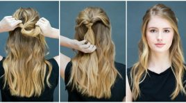 Eight awesome hairstyles that you can do it in seconds